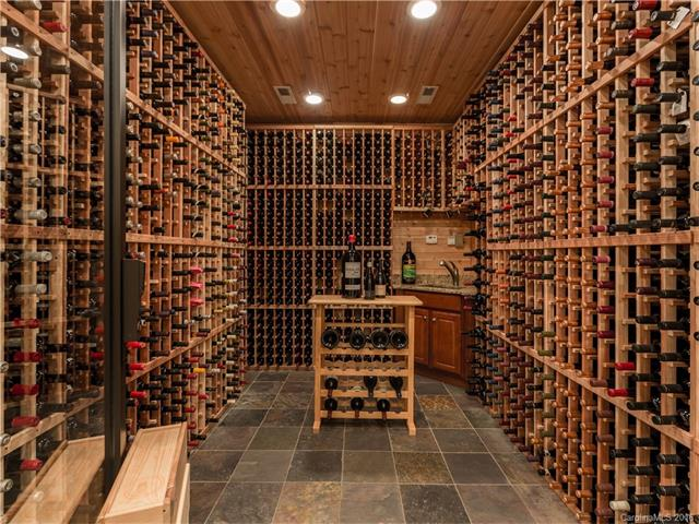 Wine room will hold over 2,000 bottles in a climate controlled environment.